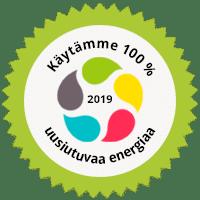 Käytämme 100% uusiutuvaa energiaa